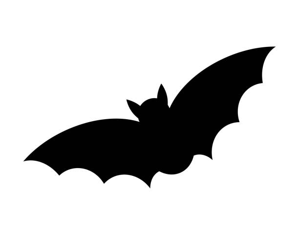 halloween bat silhouette vector  design isolated on white background - bat stock illustrations, clip art, cartoons, & icons