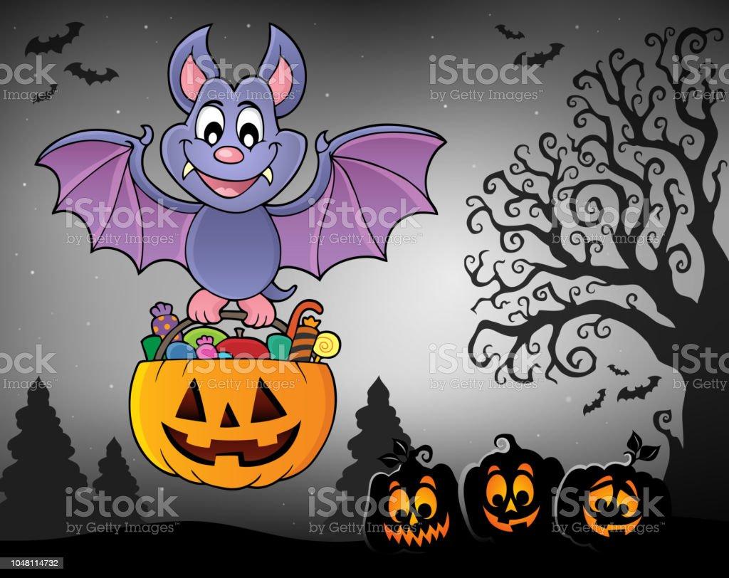 Halloween Bat Theme Image 7 Royalty Free Halloween Bat Theme Image 7 Stock Vector Art