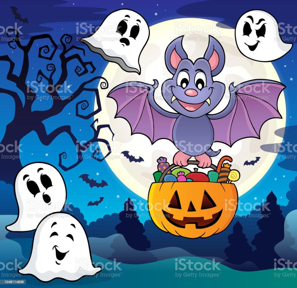 Halloween Bat Theme Image 8 Royalty Free Halloween Bat Theme Image 8 Stock Vector Art
