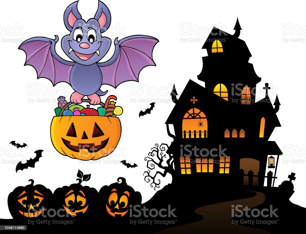 Halloween Bat Theme Image 9 Royalty Free Halloween Bat Theme Image 9 Stock Vector Art