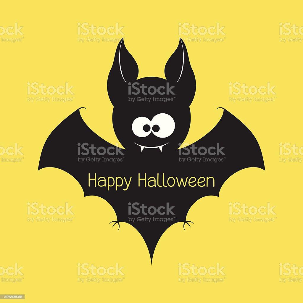 Halloween bat vector art illustration
