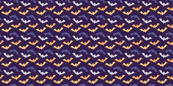 Halloween bats  seamless repeat pattern vector background