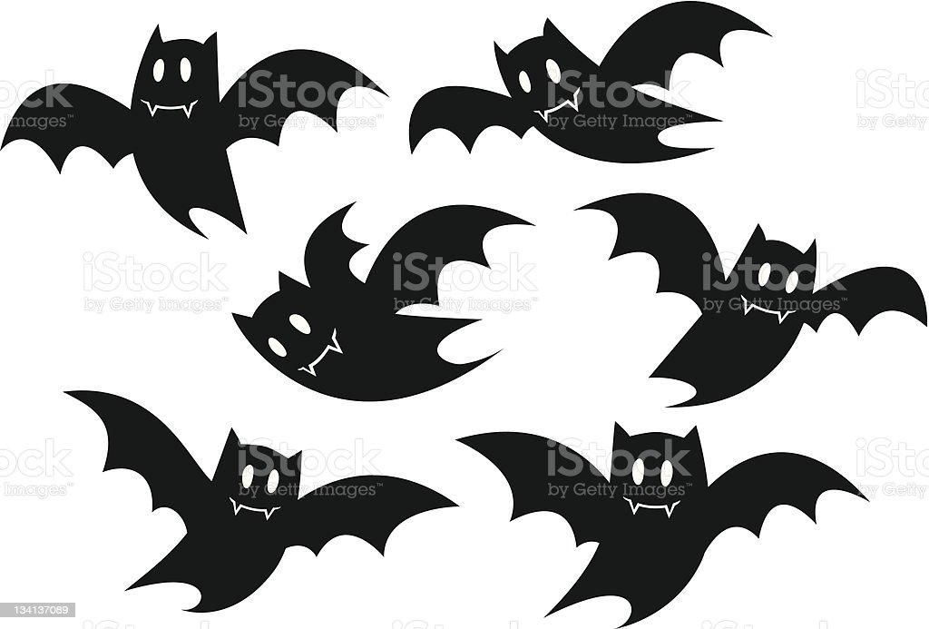 Halloween Bats vector art illustration