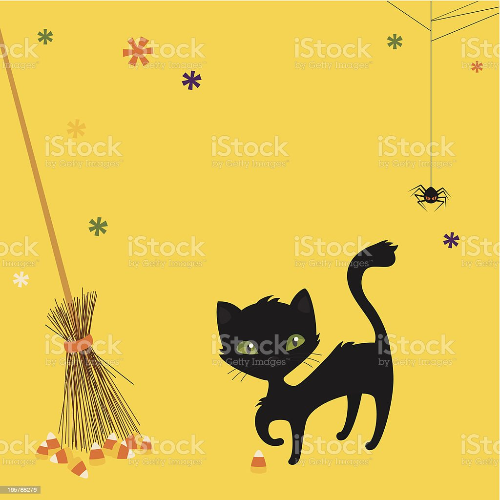 Halloween black cat royalty-free stock vector art