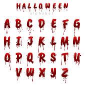 Halloween bloody alphabet i