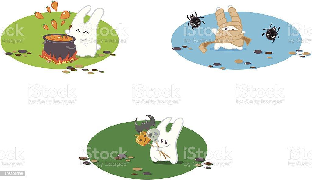 Halloween bunnies royalty-free halloween bunnies stock vector art & more images of anthropomorphic smiley face