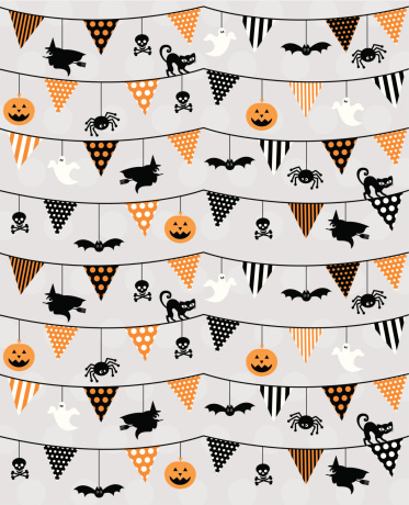 Halloween Bunting & Icons Pattern