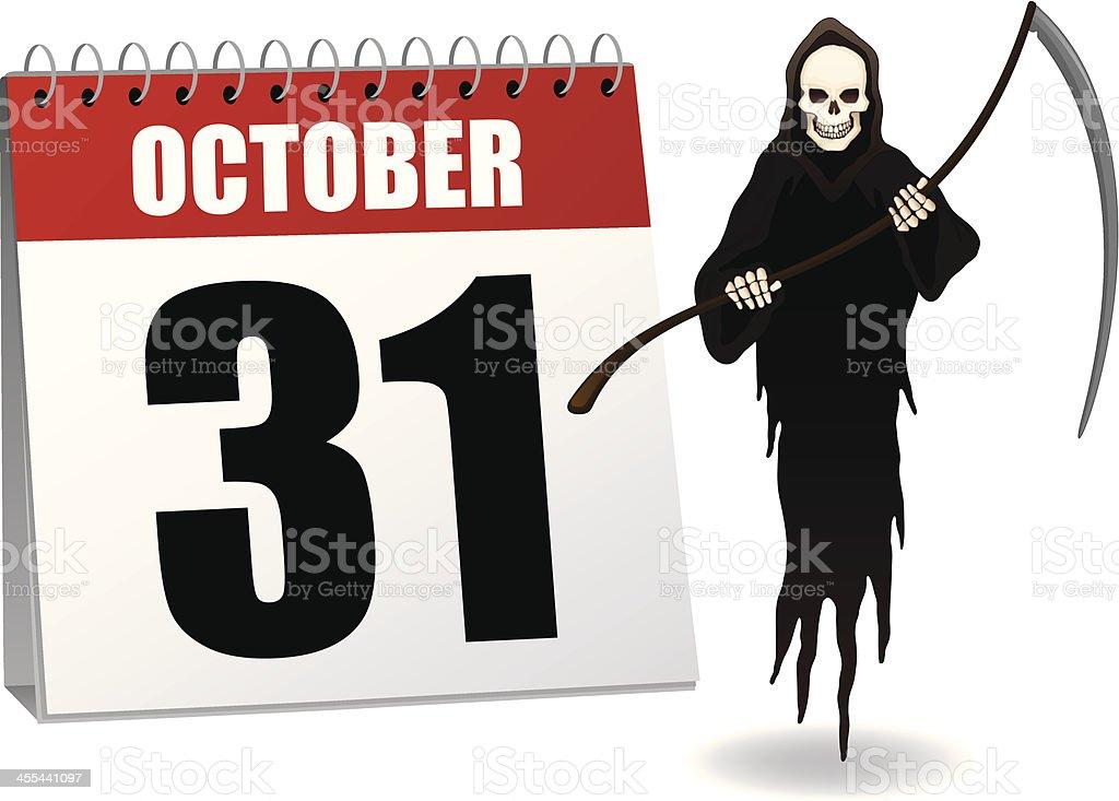 Halloween Calendar royalty-free halloween calendar stock vector art & more images of calendar