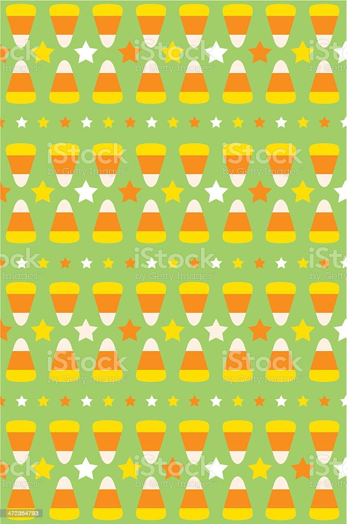Halloween Candy Corn Stripe in Green royalty-free stock vector art