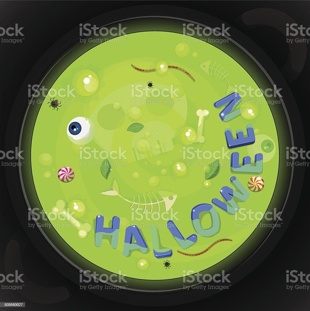 Halloween card 02 green royalty-free stock vector art