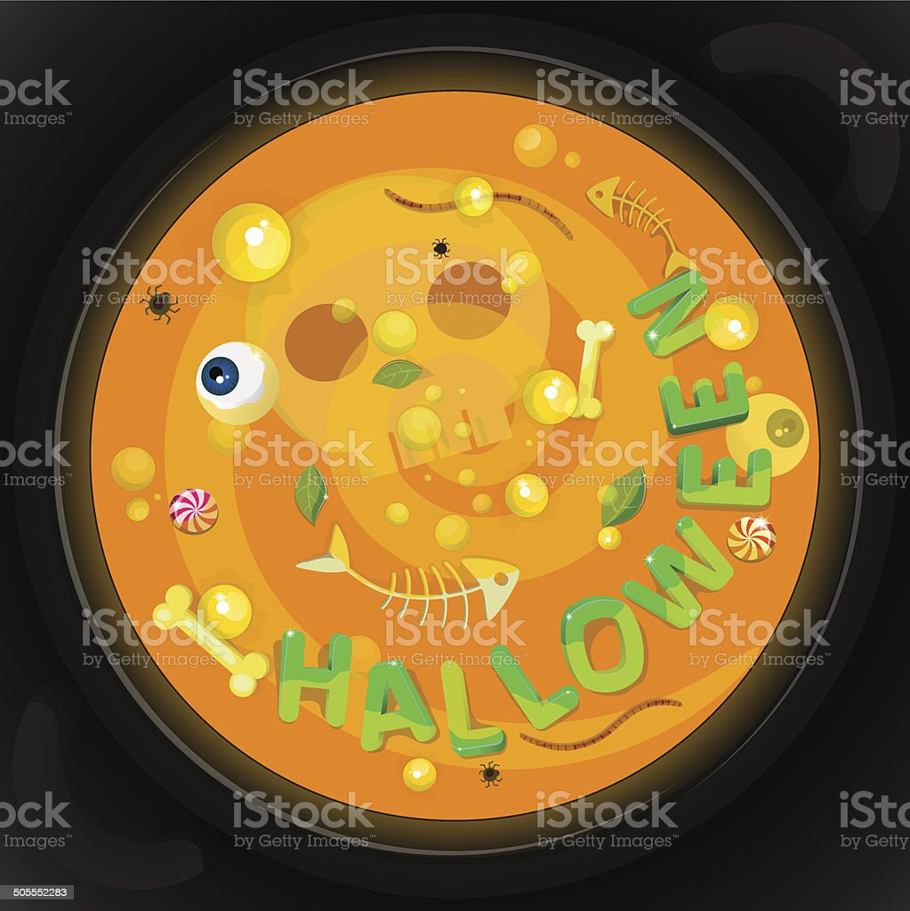 Halloween card 02 orange royalty-free stock vector art