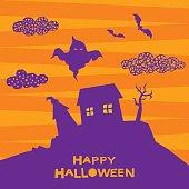Halloween card background.