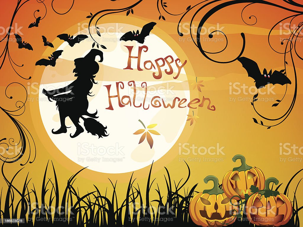 Halloween card royalty-free halloween card stock vector art & more images of abstract