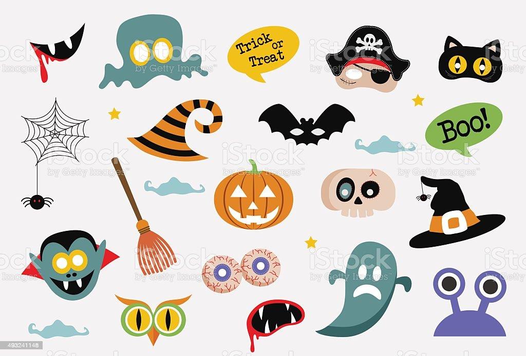 Halloween card with cartoon death. vector illustration vector art illustration