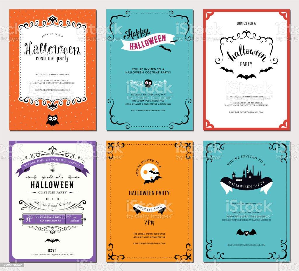 Halloween Cards_08 - Illustration vectorielle