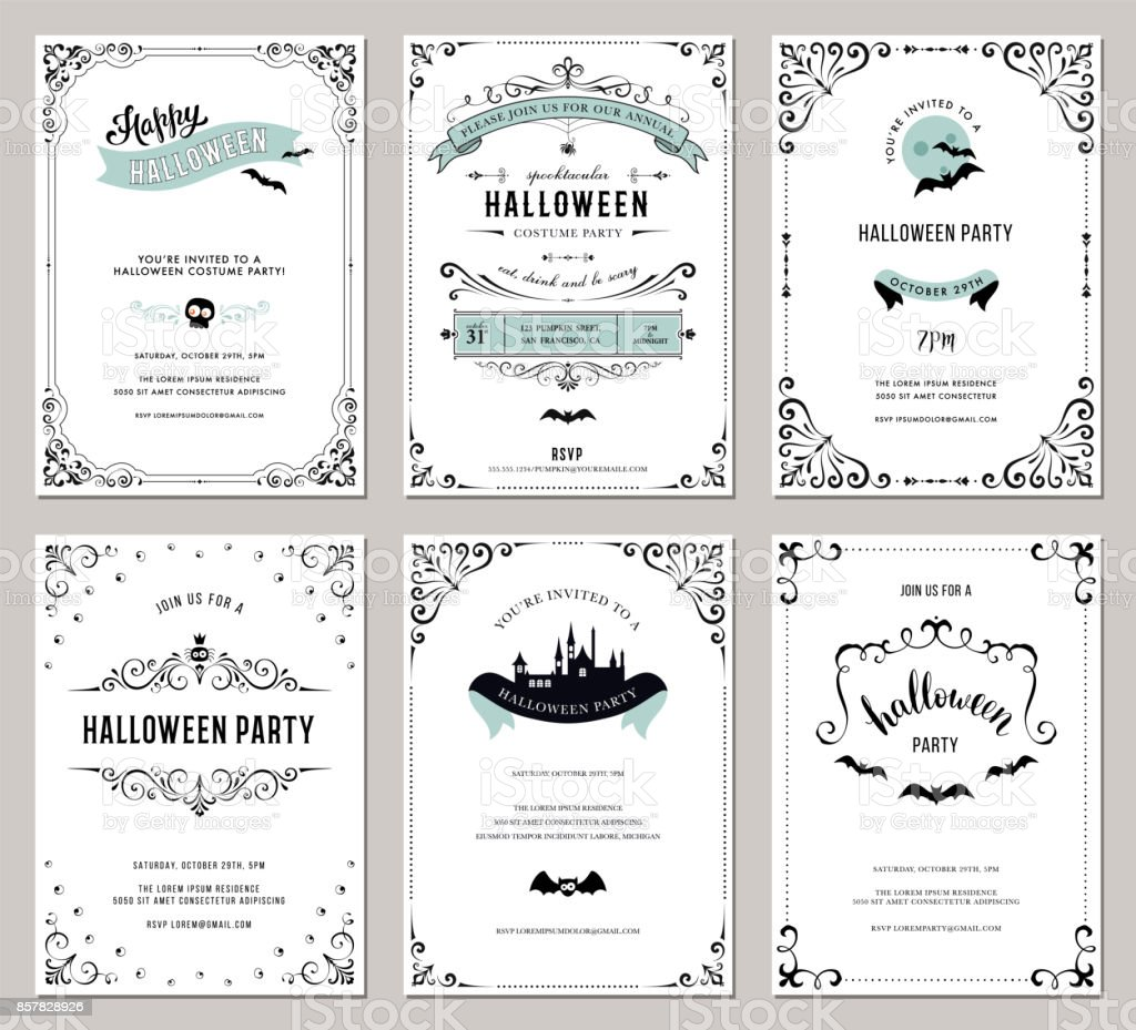 Halloween Cards_09 vector art illustration