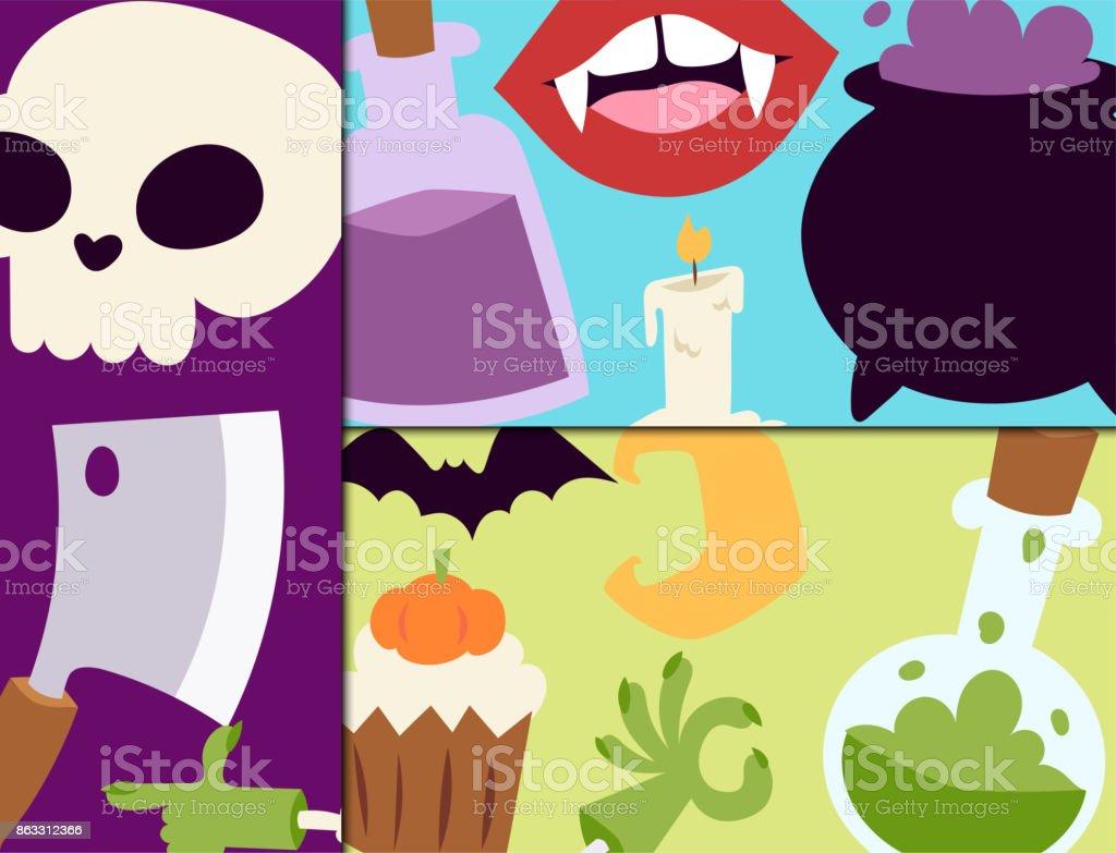 ハロウィーン カーニバル カード ベクトル イラストかぼちゃとゴースト