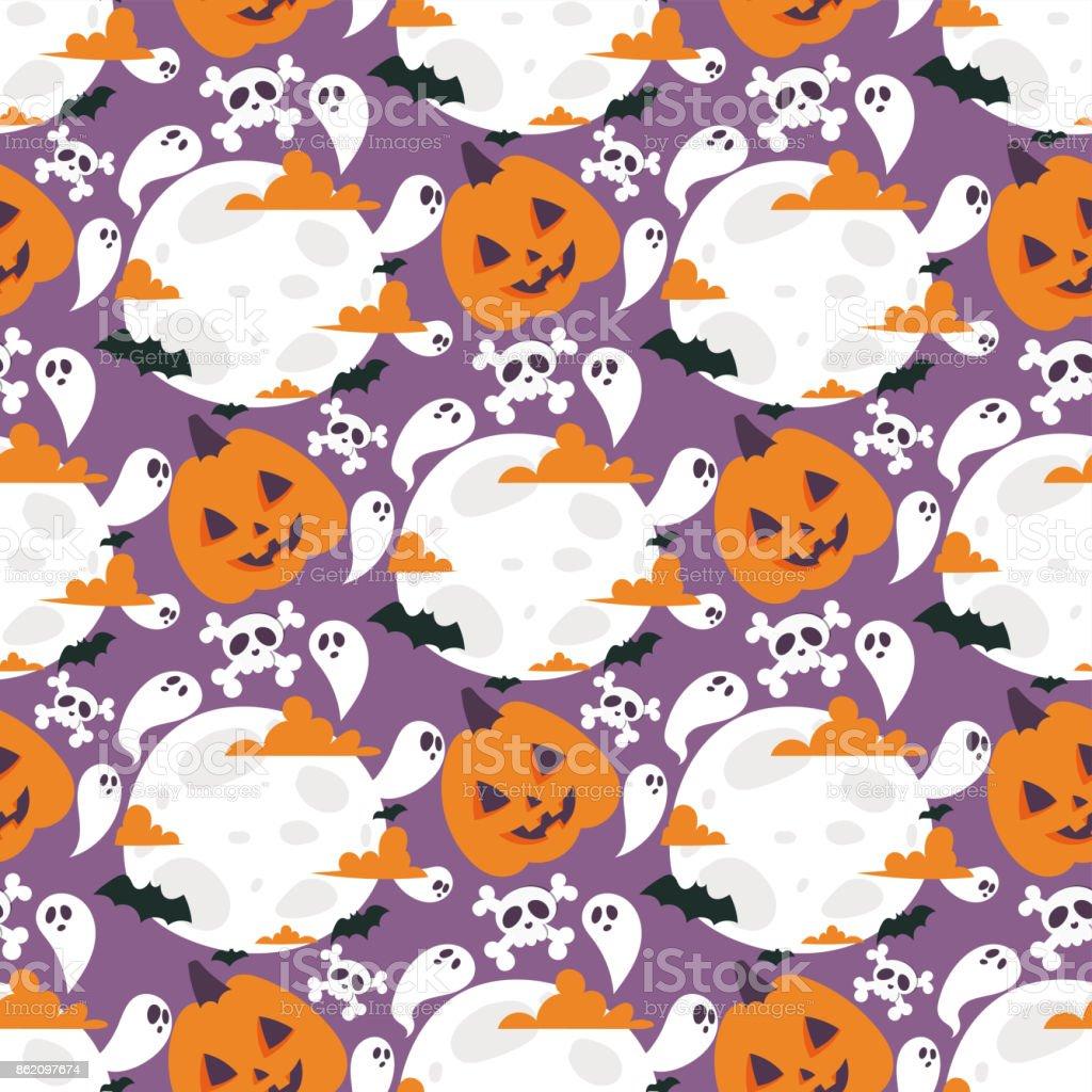 ハロウィーン カーニバルのシームレスなパターン背景ベクトル イラスト ムーンサイン夜幽霊幽霊 10 月秋恐怖不気味な伝統的です いっぱいになるのベクターアート素材や画像を多数ご用意 Istock