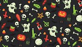 Halloween cartoon pattern