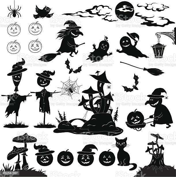 Halloween cartoon set black silhouette vector id450542691?b=1&k=6&m=450542691&s=612x612&h=dnnjguek0qm fvy2ynioob6ff74qqzb2hiz5fux4e1c=