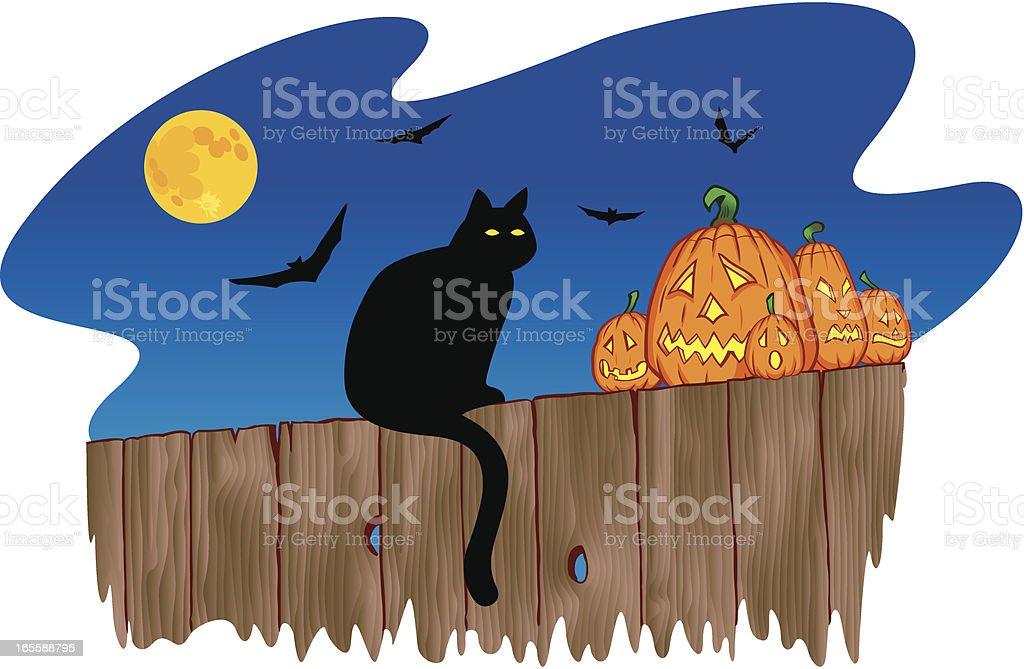 Halloween Cat royalty-free halloween cat stock vector art & more images of animal