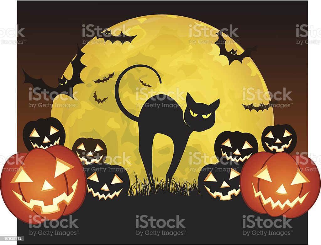 halloween cat royalty-free halloween cat stock vector art & more images of anger