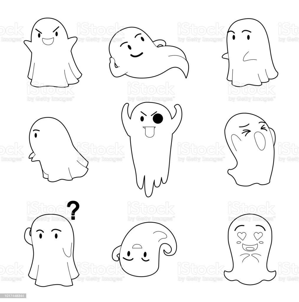 Ilustración De Cabeza Grande De Halloween Personaje Plantea A