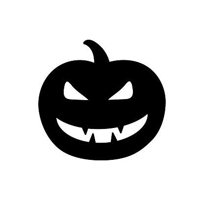 Halloween Character black pictogram isolated on white