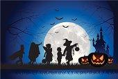 istock Halloween Children Trick Or Treat 165738916