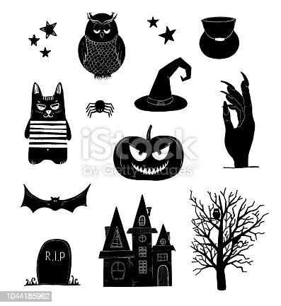 🔥 Imagen de Prediseñadas de Halloween. Blanco y negro calabaza ...