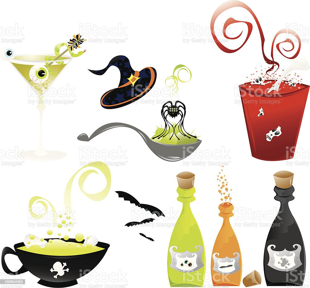 Halloweenclip Art Vektor Illustration 165604063 | iStock