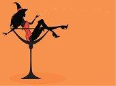 Halloween Cocktail Girl