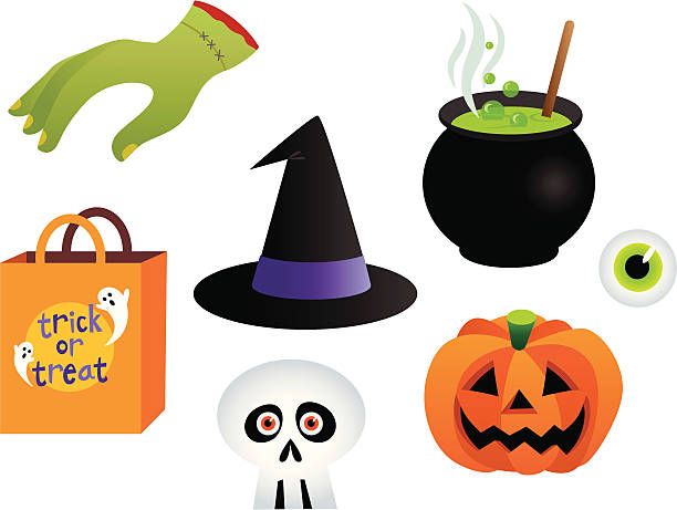 Halloween Collection Lots of icons for the Halloween season. Editable vector files. detach stock illustrations