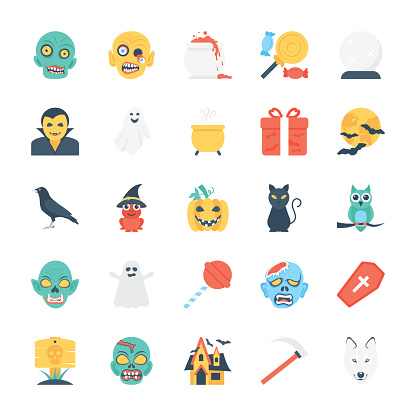 Halloween Colored Vector Icons 4
