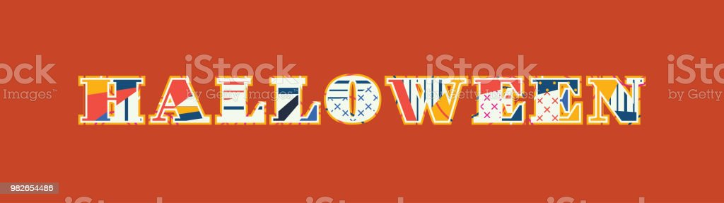 halloween concept word art illustration royalty free halloween concept word art illustration stock vector art