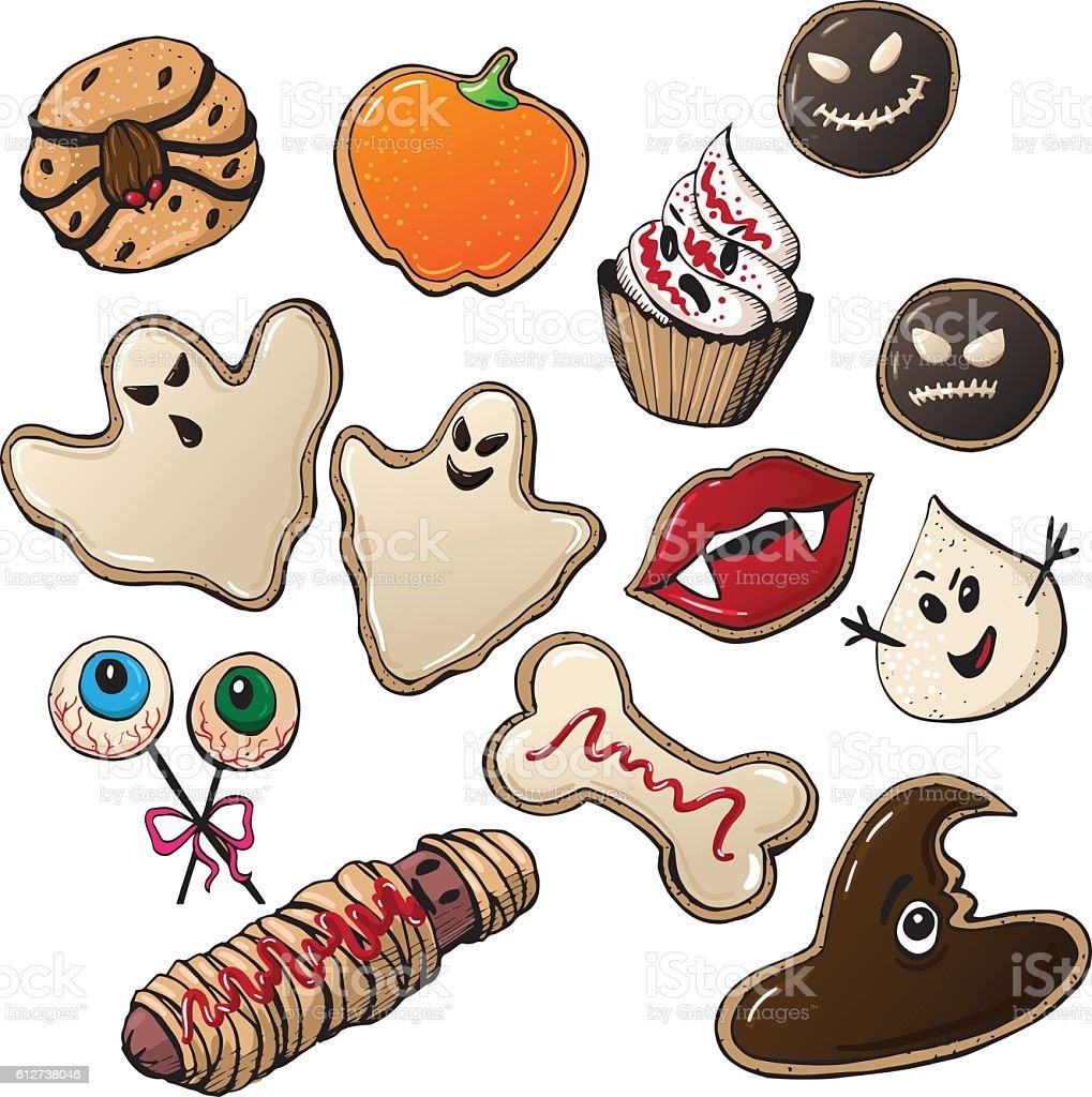 Halloween Cookies  2 vector art illustration