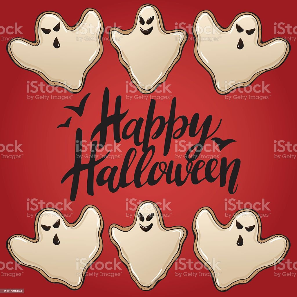 Halloween Cookies 3 vector art illustration