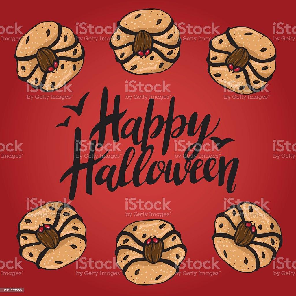 Halloween Cookies 4 vector art illustration