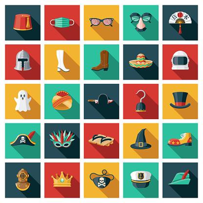 Halloween Costume Icon Set