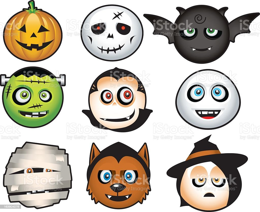 Halloween costume icons cartoon royalty-free halloween costume icons cartoon stock vector art & more images of animal markings