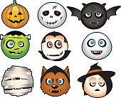 Cute vector illustration for halloween icons