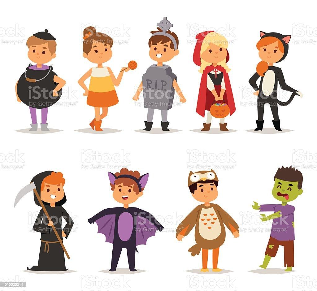 Halloween costume kids vector. vector art illustration