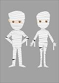 Halloween costume mummy man and woman