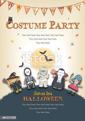 istock Halloween Costume Party Invitation 484221328