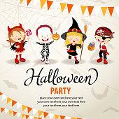 Halloween trick or treat kids.