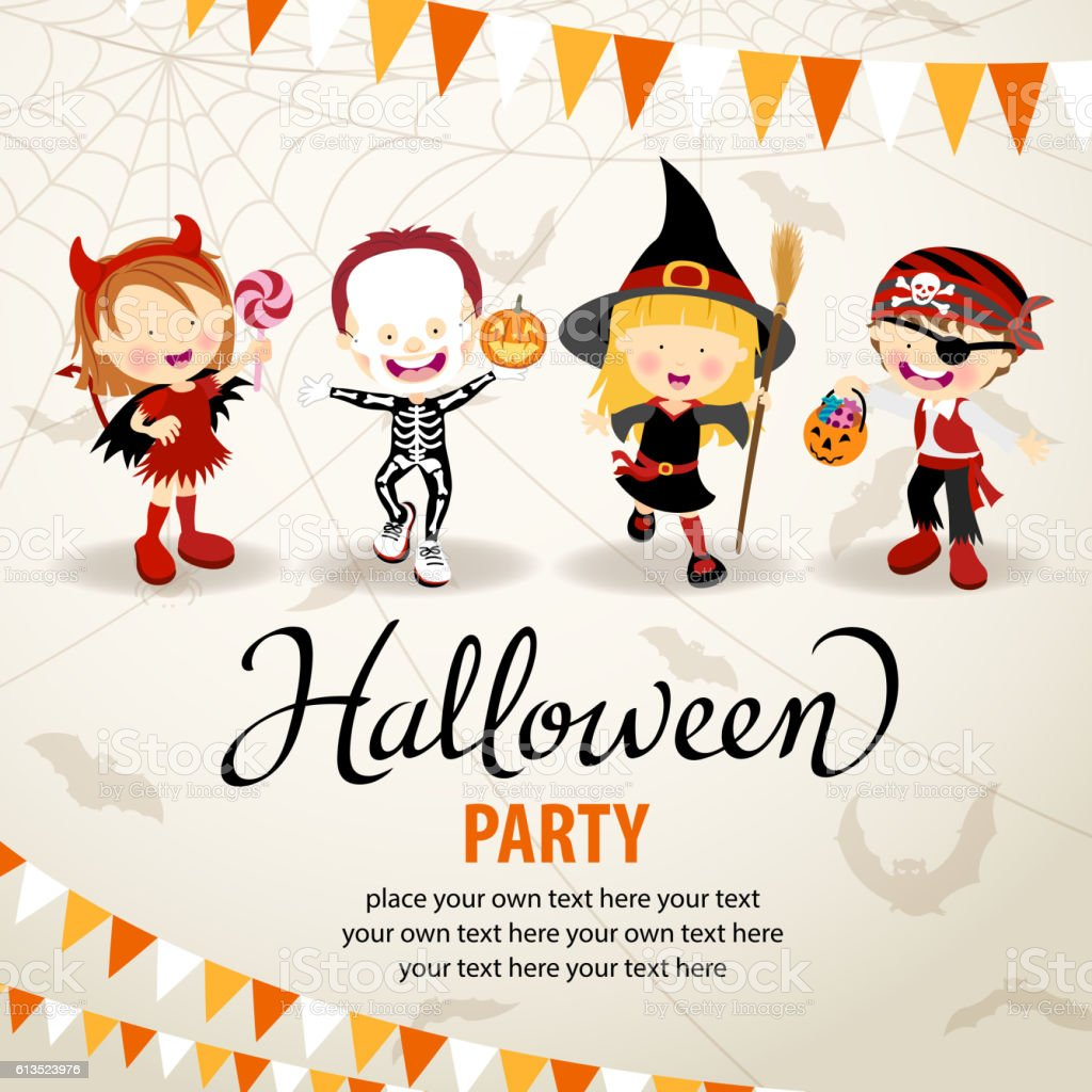 Halloween Costume Party vector art illustration
