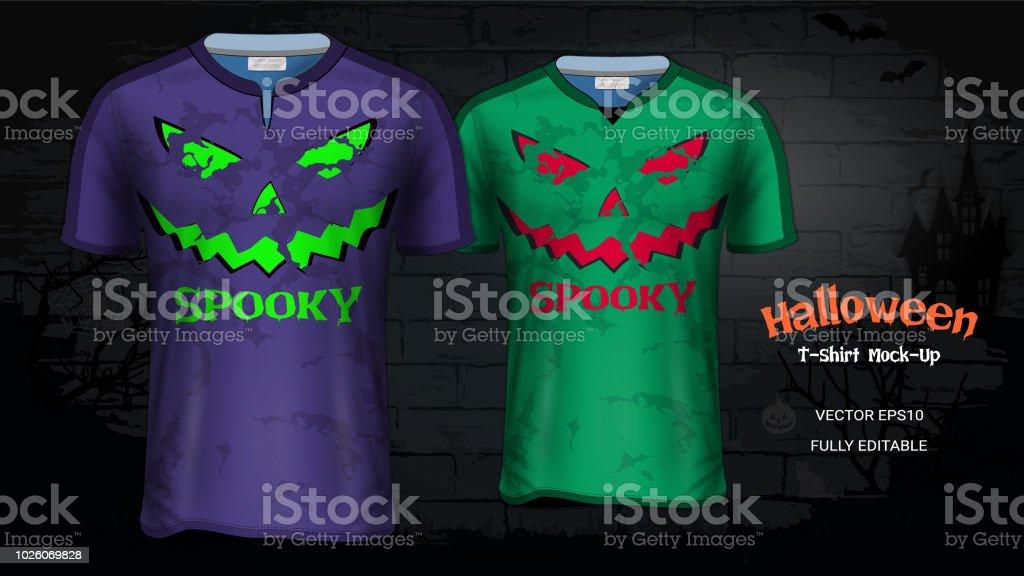 Ilustración de Halloween Traje Camisetas Maqueta De Plantillas ... e99384558b011