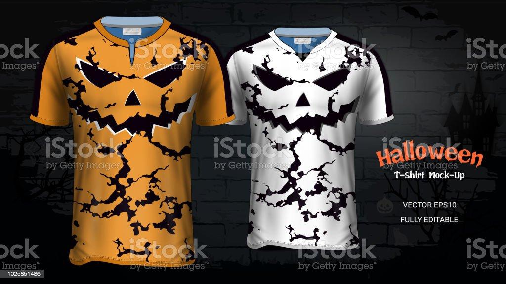 Ilustración de Disfraces De Halloween Camisetas Maqueta De ... e9d043d637c79