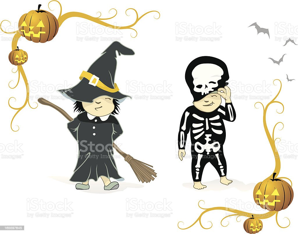 Halloween Costumes 2 royalty-free halloween costumes 2 stock vector art & more images of art and craft