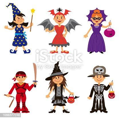 istock Halloween Costumes for Cute Cartoon Kids 1056377240